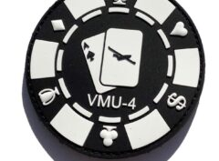 VMU-4 Evil Eyes Poker Chip PVC Patch - Hook and Loop