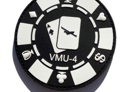 VMU-4 Evil Eyes Poker Chip PVC Patch - Hook and Loop