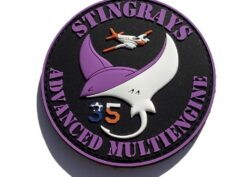 VT-35 Stingrays Student PVC Patch- With Hook and Loop