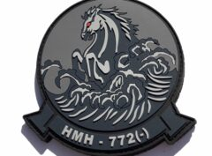 HMH-772 Hustlers PVC patch - Blackout/ Hook and Loop
