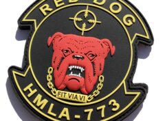 HMLA-773 Red Dog PVC Patches - with Hook and Loop