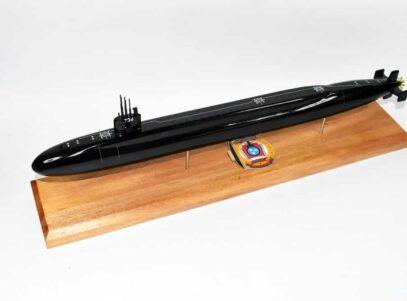 USS Tennessee SSBN-734 Submarine Model (Black Hull)