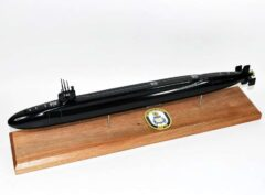 USS Rhode Island SSBN-740 Submarine Model (Black Hull)