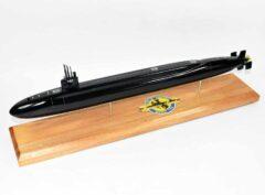 USS Wyoming SSBN-742 Submarine Model (Black Hull)