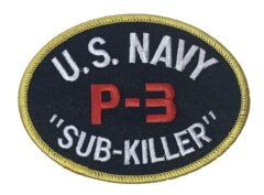 U.S. NAVY P-3 SUB-KILLER Patch – Plastic Backing