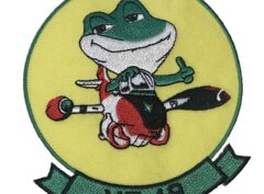 VT-19 Frogs Squadron Patch – Plastic Backing