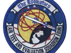 VX-4 AIR TEST AND EVALUATION SQUADRON FOUR Patch – Plastic Backing