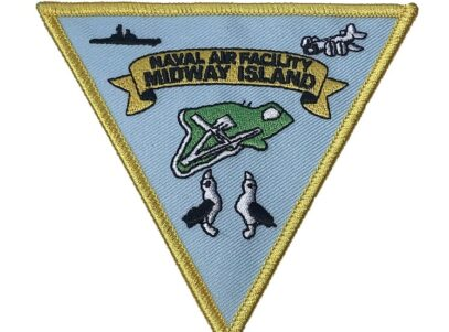 NAVAL AIR FACILITY MIDWAY ISLAND Patch – Plastic Backing