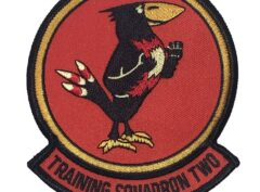 VT-2 TRAINING SQUADRON TWO Patch – Plastic Backing