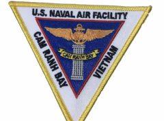 U.S. NAVAL AIR FACILITY CAM RANH BAY VIETNAM Patch – Plastic Backing