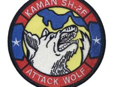 KAMAN SH-2F ATTACK WOLF Patch – Plastic Backing