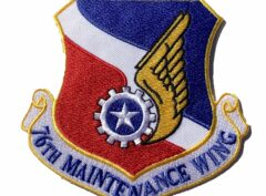 76th Maintenance Wing Patch – Plastic Backing