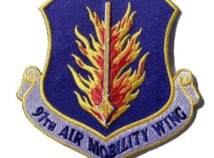 97th Air Mobility Wing Patch – Plastic Backing