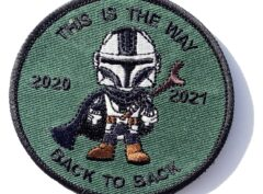 THIS IS THE WAY - Back to Back Green Deployment Patch - 3 inch Hook and Loop