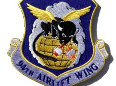 94th Airlift Wing Patch – Plastic Backing