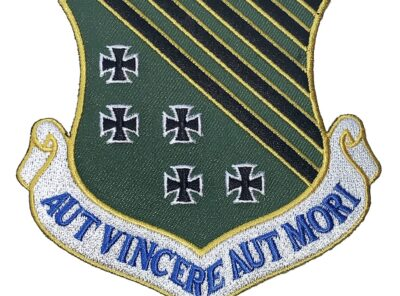 1st Fighter Wing AUT VINCERE AUT MORI Patch – Plastic Backing Patches