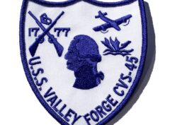 1777 U.S.S. VALLEY FORGE CVS-45 Patch – Plastic Backing