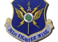 301st Fighter Wing Patch – Plastic Backing