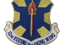 12th Flying Training Wing Patch – Plastic Backing