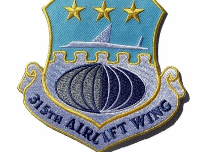 315th Airlift Wing Patch – Plastic Backing