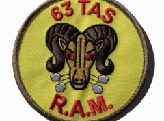 63rd TACTICAL AIRLIFT Squadron Patch – Plastic Backing