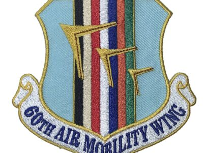 4 inch 60th Air Mobility Wing Patch – Plastic Backing