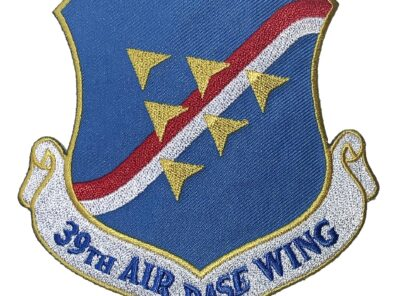 39th Air Base Wing Patch – Plastic Backing