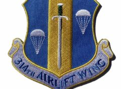 314th Airlift Wing Patch – Plastic Backing