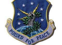 POISED FOR PEACE 91st Missile Wing Patch – Plastic Backing