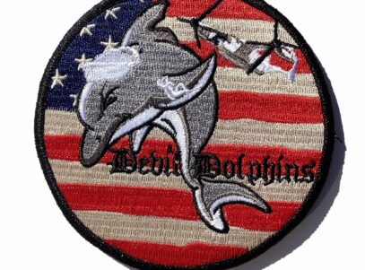 V-22 Devil Dolphins Patch - Hook and Loop