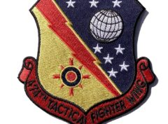 474th TACTICAL FIGHTER WING Patch – Plastic Backing