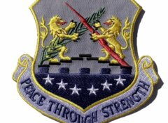 PEACE THROUGH STRENGTH 100th Bombardment Wing Patch – Plastic Backing