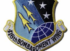 416th BOMBARDMENT WING Patch – Plastic Backing