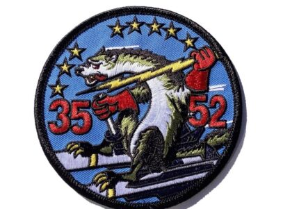 52 TFW 35 TFW Tactical Fighter Wing Wild Weasel Patch – Plastic Backing