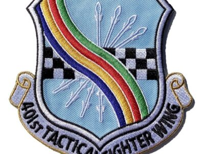 401st Tactical Fighter Wing Patch – Plastic Backing