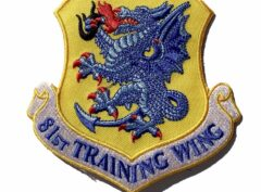 81st Training Wing Patch – Plastic Backing