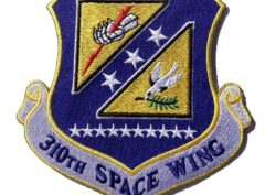 310th Space Wing Patch – Plastic Backing