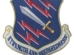STRENGTH AND PREPAREDNESS 21st Space Wing Patch – Plastic Backing