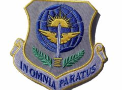 In Omnia Paratus Patch – Plastic Backing