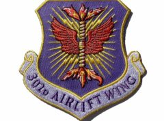 302nd Airlift Wing Patch – Plastic Backing
