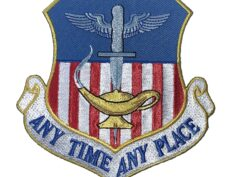 ANY TIME ANY PLACE 1st Special Operations Wing Patch – Plastic Backingv
