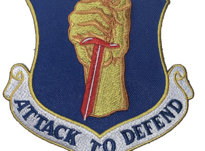 ATTACK TO DEFEND 35th Fighter Wing Patch – Plastic Backing