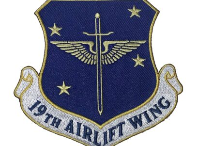 19th Airlift Wing Patch – Plastic Backing