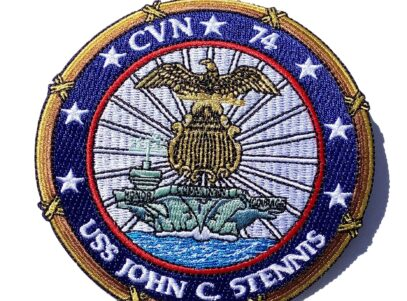 CVN-74 USS John C Stennis Patch – No Hook & Loop