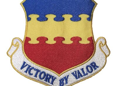 20th Fighter Wing VICTORY BY VALOR Patch – Plastic Backing