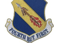 4th Fighter Wing FOURTH BUT FIRST Patch – Plastic Backing