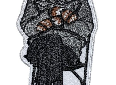 """Bernie Sanders """"Man in the Chair with Mittens and Mask"""" Patch - Sew On"""