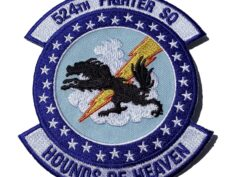 524TH FIGHTER SQ HOUNDS OF HEAVEN PATCH- SEW ON