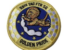 59TH Tactical Fighter Squadron GOLDEN PRIDE Patch - Sew On