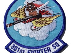 301ST FIGHTER SQ Patch - Sew On